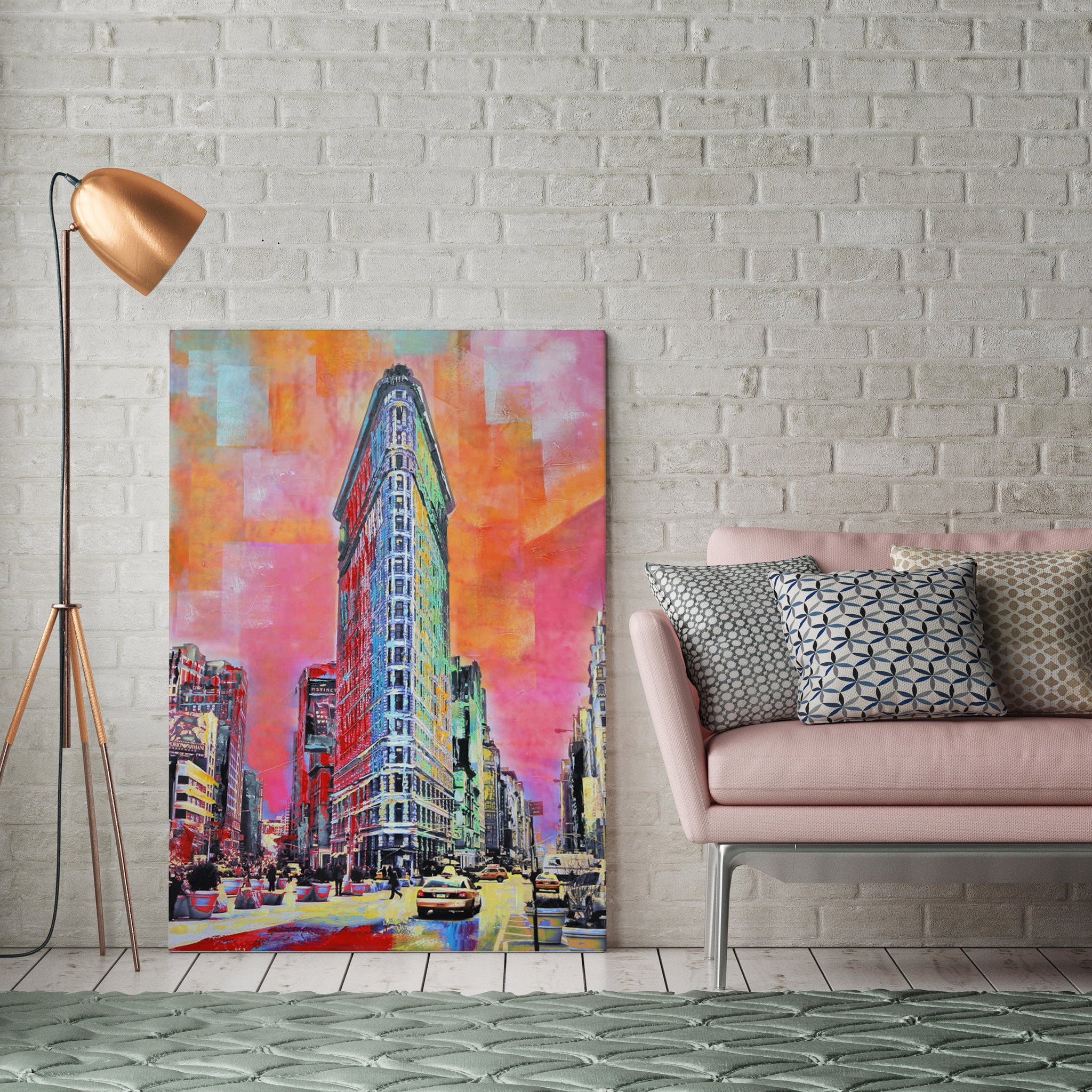 Flat Iron Building Painting