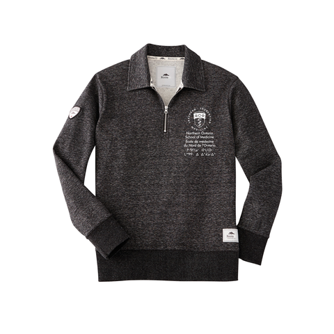 Roots Killarney Quarter Zip Fleece Hoodie - Charcoal Mix (Unisex)