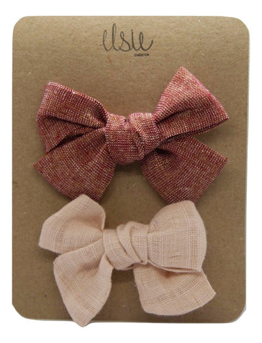 Valentine's Bow Set - Red and Pink