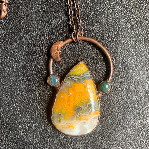 Arcane Ascents Bumble Bee Jasper Pendant