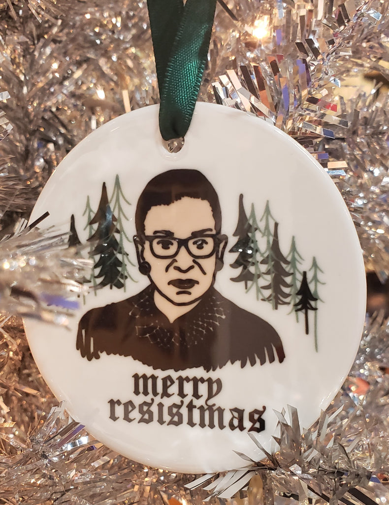 """Merry Resistmas"" Ornament"