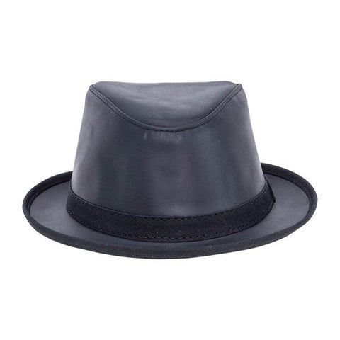 American Hat Maker's Soho Leather Fedora