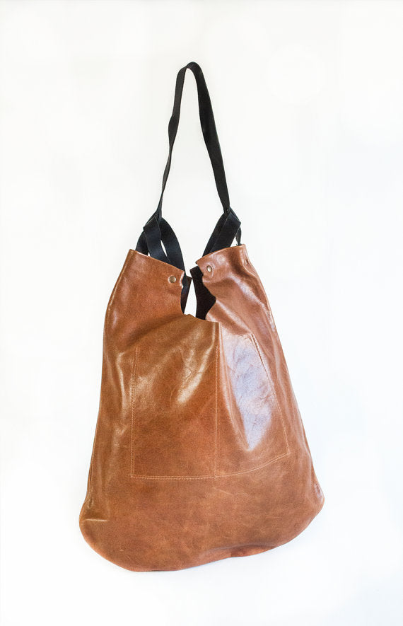 Leather Scavenger Tote