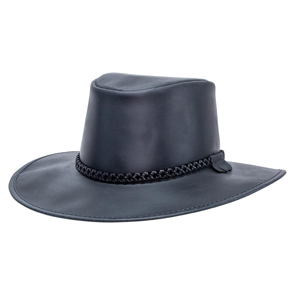 American Hat Makers Crusher Leather Hat
