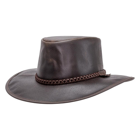 American Hat Maker Crusher Leather Hat