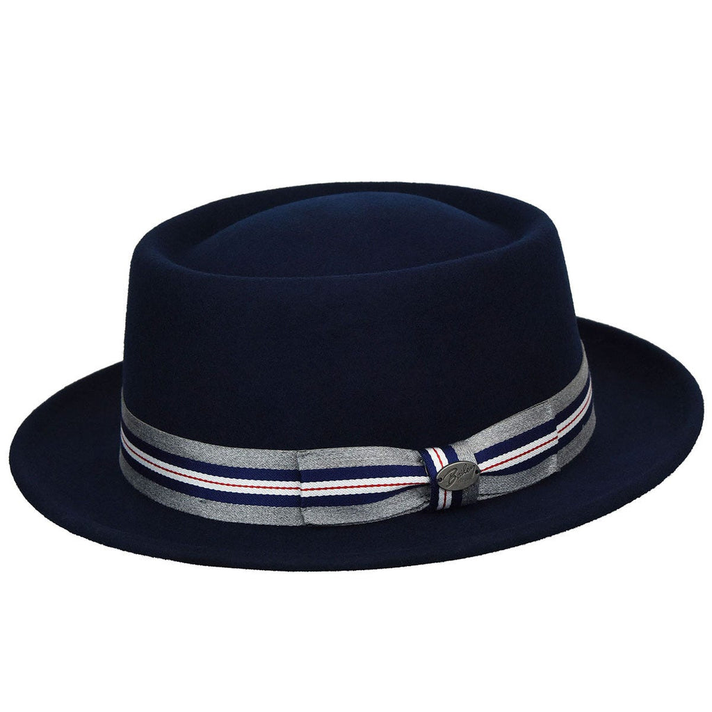 Bailey Klaxon Pork Pie Hat in Navy