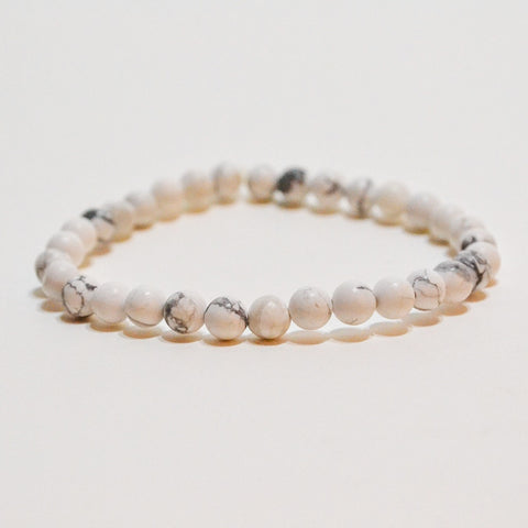 Raw Aura Howlite 8mm Stretchy Crystal Bracelet
