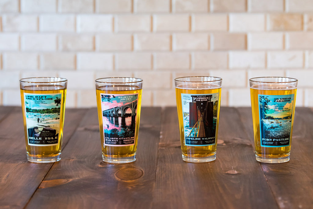 RVA Vintage Outside Pint Glasses - First Set