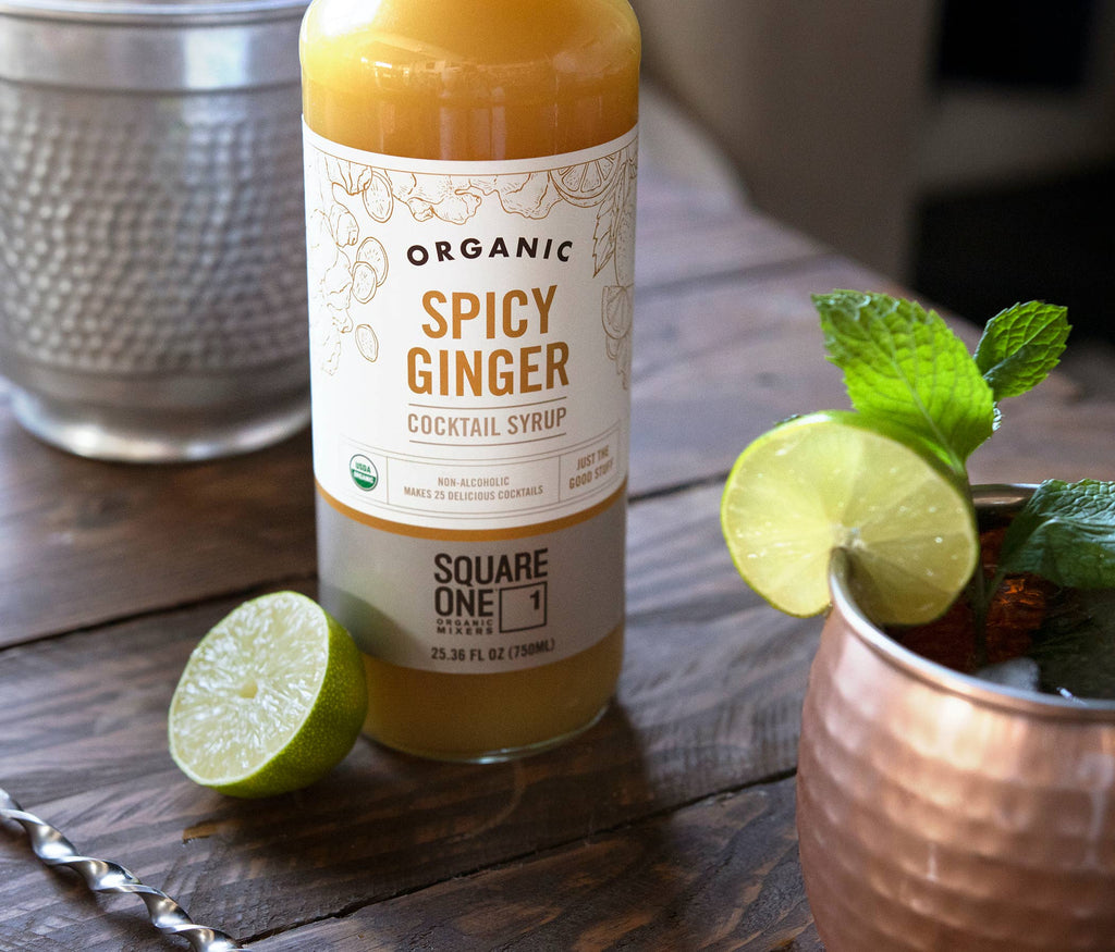 Square One Organic Spicy Ginger Cocktail Syrup