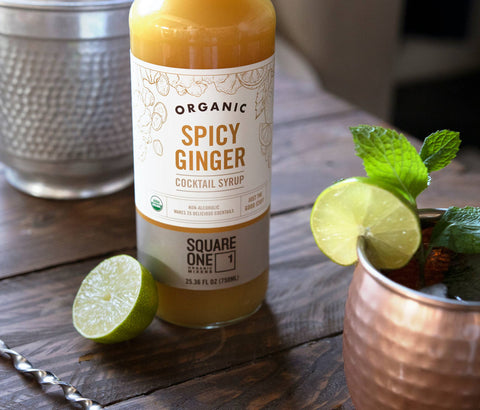 Organic Spicy Ginger Cocktail Syrup