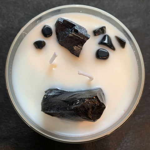 "MediaNoche Meditations ""PROTECT"" Black Plum Candle"