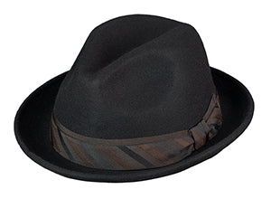 Broner Iconic Fedora in Midnight