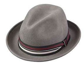 The Chivalry Wool Felt Hat (Steel Gray)