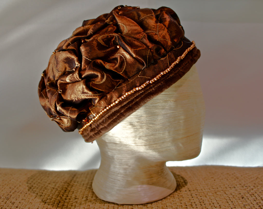 Copper Satin Beret