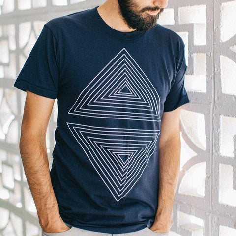 Men's Rule of Thirds-Tee-Indigo