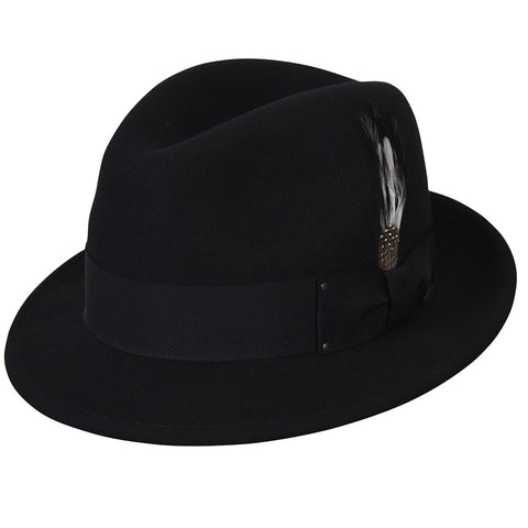 Bailey Tino Fedora in Black mix