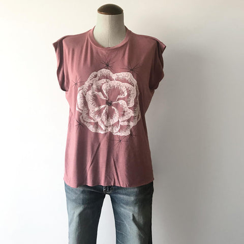 Blackbird Supply Co Wm Cactus Muscle Tee in Rose