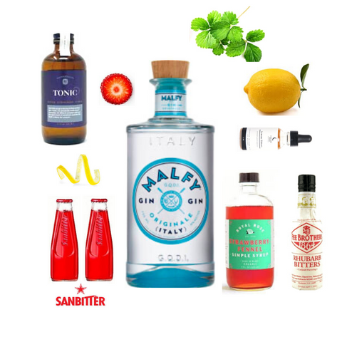Crafted Taste Mamma Mia Malfy Gin Sanbitters Cocktail Kit