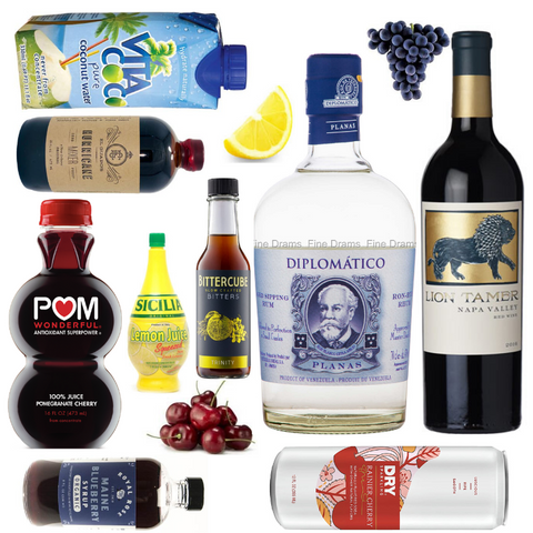 Crafted Taste Patriotic Kit with Diplomatico Planas Rum and Hess the Lion Tamer Red Blend