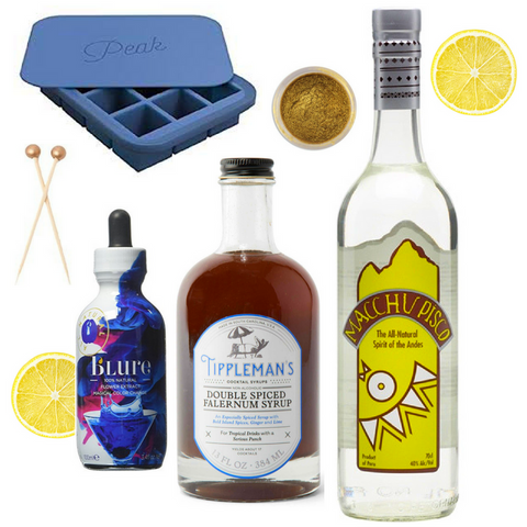 Disco Sour Cocktail Kit with Pisco, Falernum, and Butterfly Pea Flower Extract