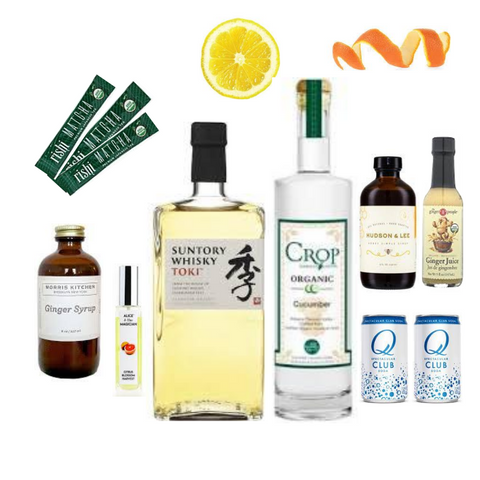 Crafted Taste Highball Cocktail Kit with Suntory Toki Whiskey and Crop Cucumber Vodka