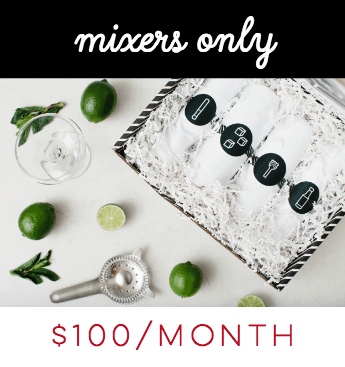 Cocktail Subscription Plan Subscription Mixers Only Subscription