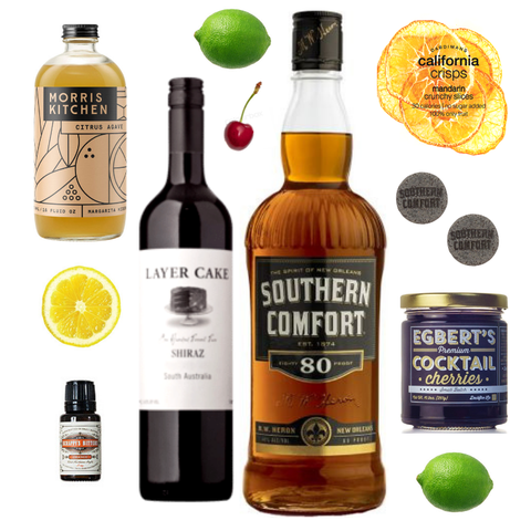 Crafted Taste Cocktail Kit Full Kit w/ Alcohol New Year's New York Sour