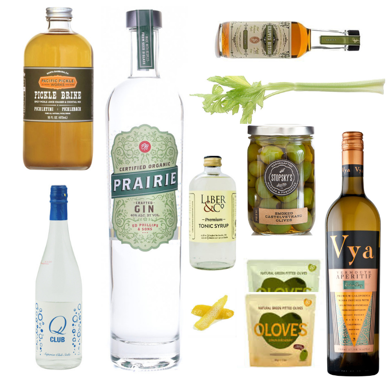Crafted Taste Cocktail Kit Full Kit w/ Alcohol The Keto Spirit Martini Cocktail Kit - Prairie Gin and Vermouth for Keto Martini