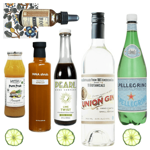 Crafted Taste Cocktail Kit Gin Swizzle Twist Cocktail Kit