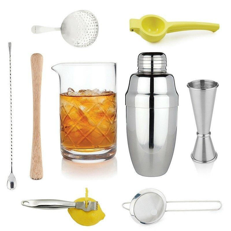 Crafted Taste Cocktail Kit Professional Bar Tool Set