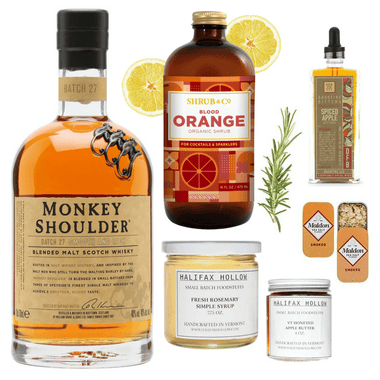 Crafted Taste Cocktail Kit Spiced Apple and Rosemary Scotch Cocktail Kit