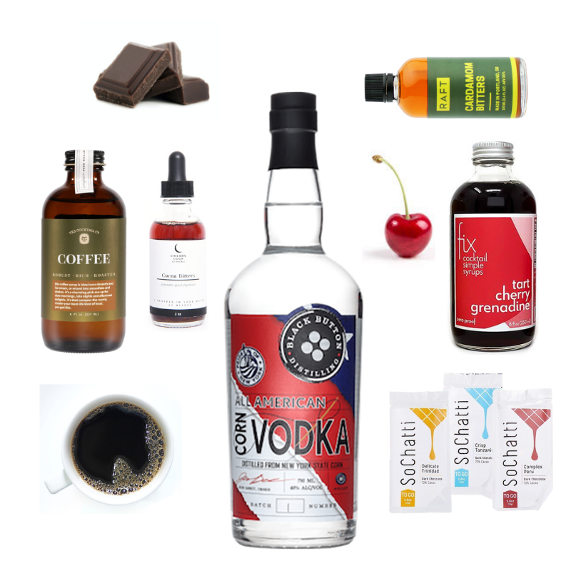 Crafted Taste Cocktail Kit The Cocoa and Bean Cocktail Kit - VODKA & COFFEE LIQUEUR