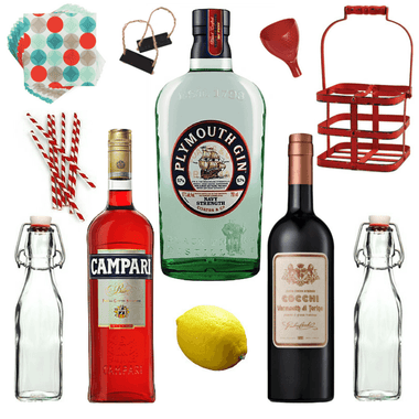 Crafted Taste Cocktails Cocktail Kit Batched & Bottled Negroni Cocktail Kit