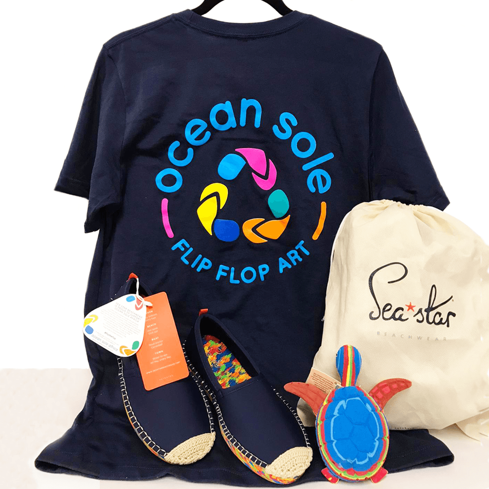Sole Mate Set (Logo T-shirt, Shoes + Medium Flip Flop Sculpture)