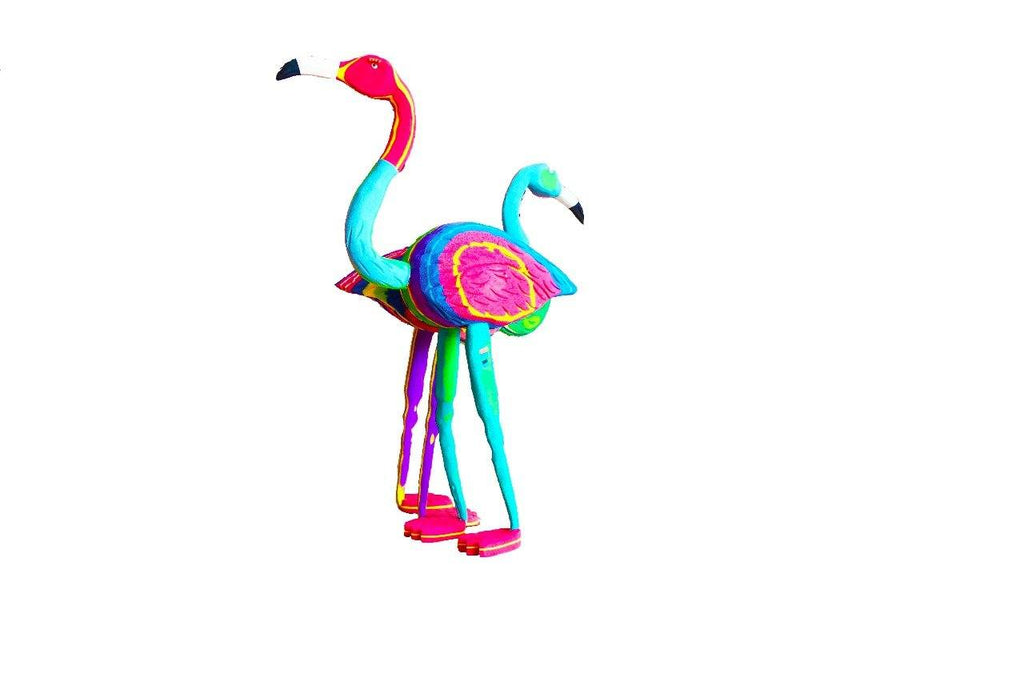 Large Double Flamingo Flip Flop Sculpture