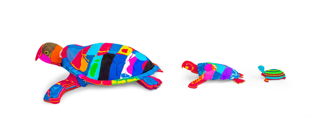 Turtle Recycled Flip Flop Sculpture