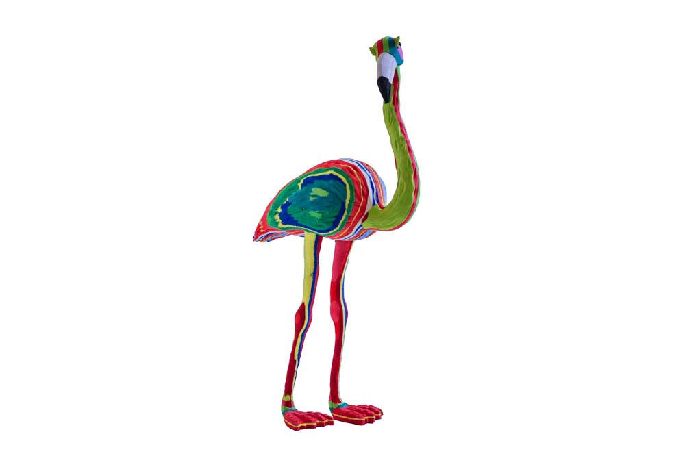 Large Flamingo Flip Flop Sculpture