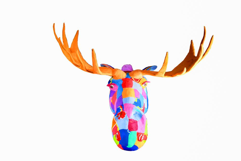 Double Extra Large Moose Wall Art