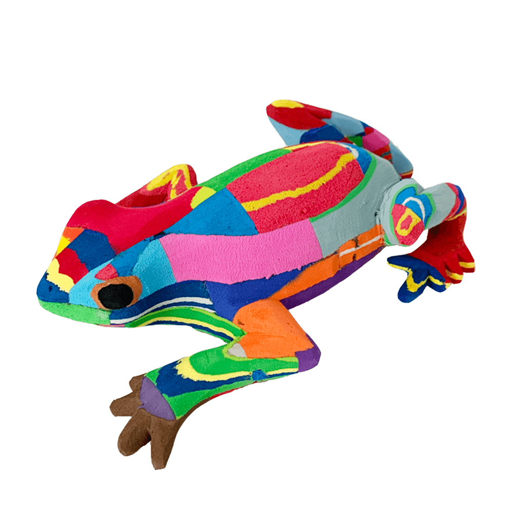 Medium Frog Recycled Flip Flop Sculpture