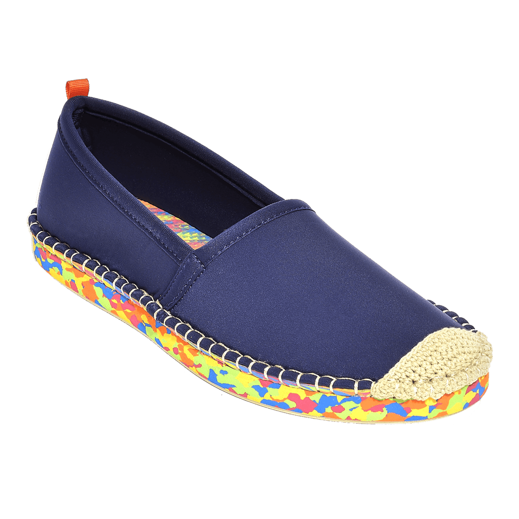 Beachcomber Espadrille: Womens Dark Navy Multi sole