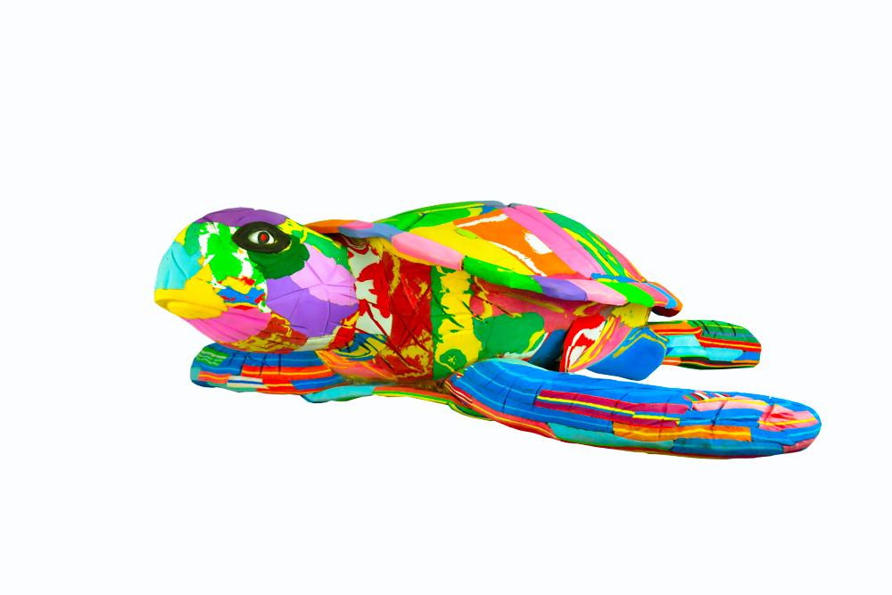 Extra Large Turtle Flip Flop Sculpture