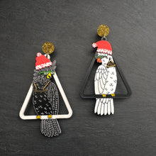 Load image into Gallery viewer, Earrings THE COCKIE COLLAB I Christmas Earrings CHRISTMAS COCKIES Australian Christmas Earrings  | Collab With Mulga the Artist | Handmade in Australia