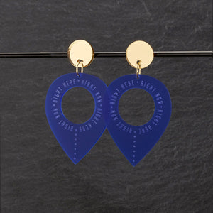 Earrings BLUE / MEDIUM RIGHT HERE, RIGHT NOW DANGLES RIGHT HERE RIGHT NOW DANGLES | Meaningful Statement Earrings | MAINE+MARA Shop