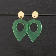 Load image into Gallery viewer, Earrings GREEN / MEDIUM RIGHT HERE, RIGHT NOW DANGLES RIGHT HERE RIGHT NOW DANGLES | Meaningful Statement Earrings | MAINE+MARA Shop