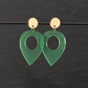 Earrings GREEN / MEDIUM RIGHT HERE, RIGHT NOW DANGLES RIGHT HERE RIGHT NOW DANGLES | Meaningful Statement Earrings | MAINE+MARA Shop