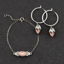 Load image into Gallery viewer, Bracelet MATCHING HOOPS THE ATHENA I Rose Gold and Silver Art Deco Bracelet THE ATHENA I Rose Gold and Silver Art Deco Bracelet I Handmade in Australia