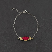 Load image into Gallery viewer, Bracelet RUBY GEM THE ATHENA I Emerald or Ruby and Gold Art Deco Bracelet THE ATHENA I Emerald or Ruby and Gold Art Deco Bracelet I Handmade in Australia