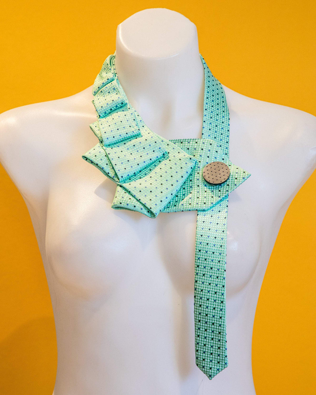 Accessories THE MINT UPCYCLED NECKLACE THE MINT | Mint Green + Blue Upcycled Statement Necklace | MAINE+MARA Shop