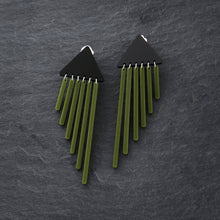 Load image into Gallery viewer, Clip on Earrings OLIVE CLIP ON COLOUR POP CHIMES Colour Pop Chimes Dangles | Clip-on Statement Earrings | MAINE+MARA Shop