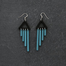 Load image into Gallery viewer, Clip on Earrings TEAL CLIP ON COLOUR POP CHIMETTES Colour Pop Chimettes Dangles | Clip-on Small Statement Earrings | MAINE+MARA Shop